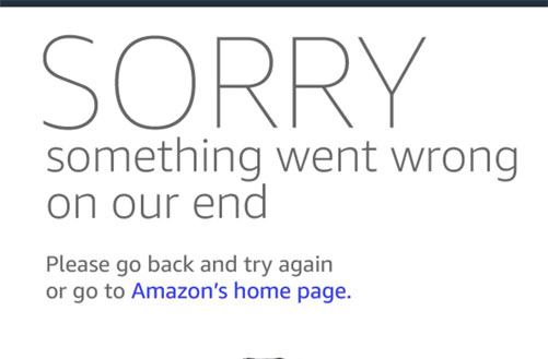Amazon Something went-wrong