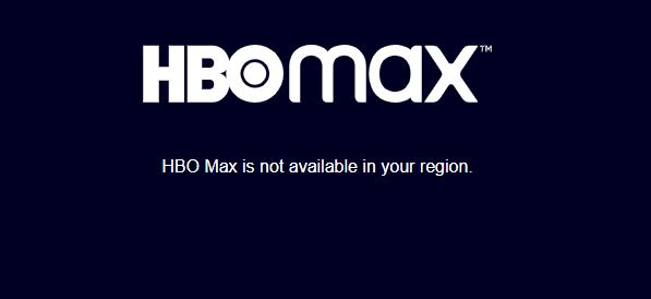 HBO Max is not available in your region.