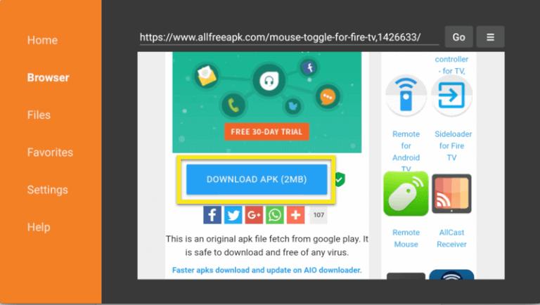 Select Download APK