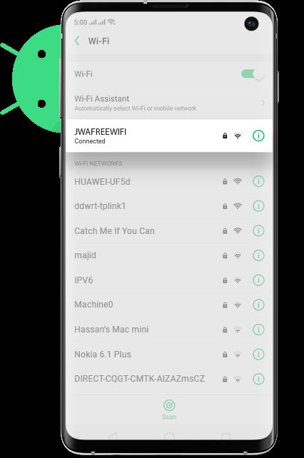 John Wayne Airport wifi Android