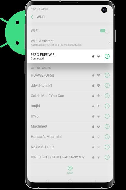 SFO wifi Android