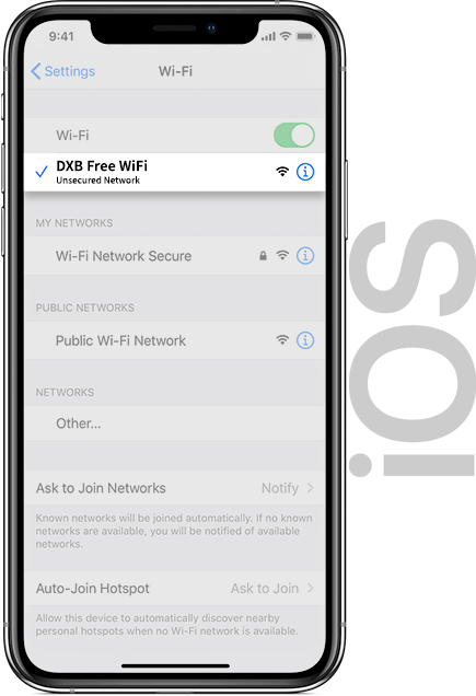 Dubai WiFi IOS