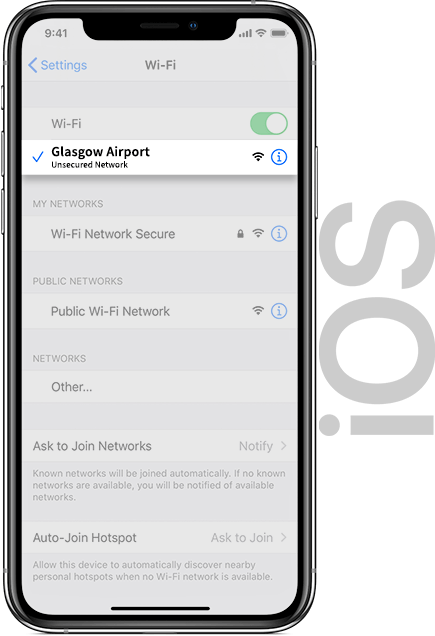 Glasgow Airport Wifi IOS