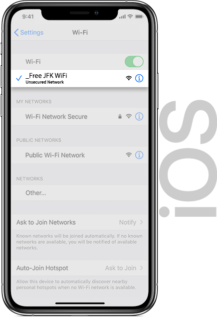 JFK FREE Wifi IOS