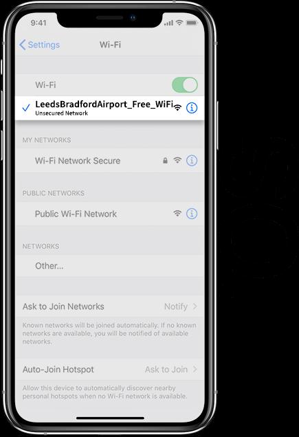 Leeds Bradford Airport Wifi iOS