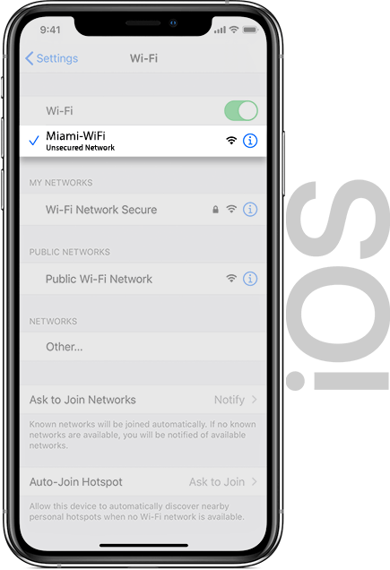Miami Wifi IOS