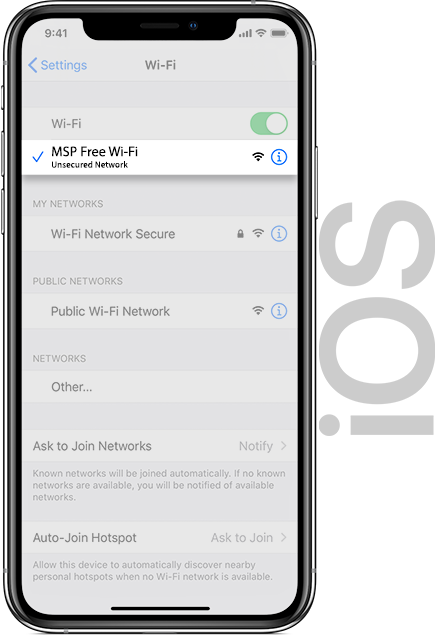 MSP Wifi IOS