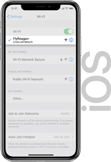 Reagan Wifi IOS