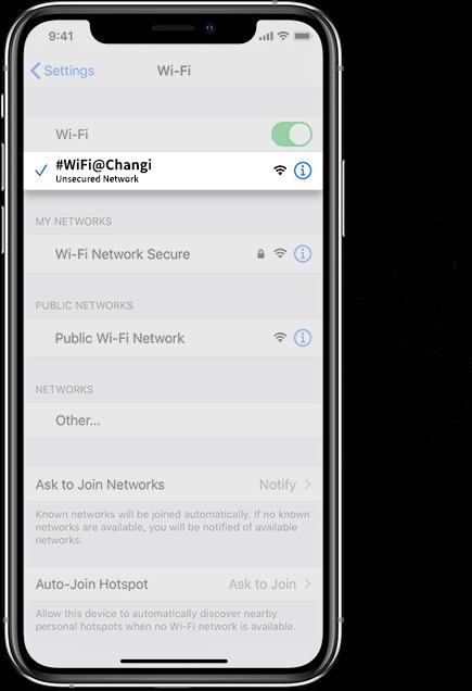 Singapore WiFi IOS