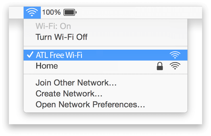 Atlanta Airport Wifi Mac