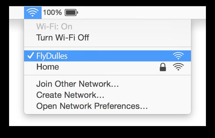 Dulles WiFi Mac