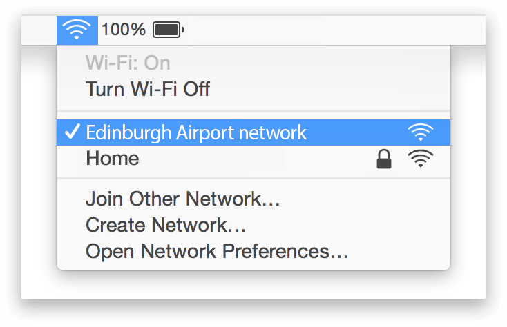 Edinburgh Airport Wifi Mac