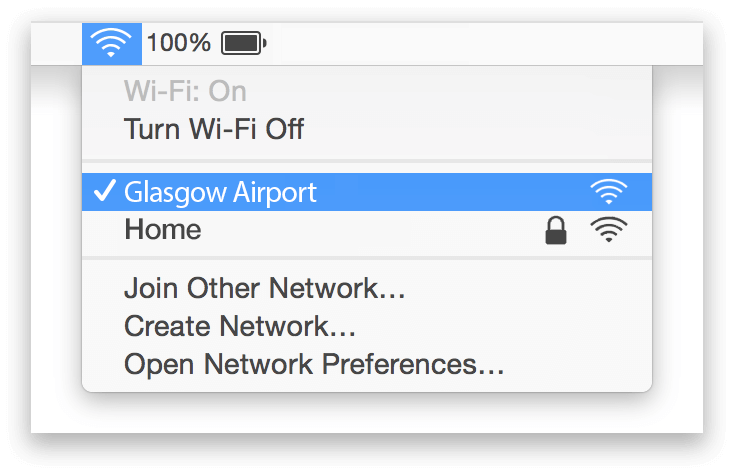 Glasgow Airport Wifi Mac