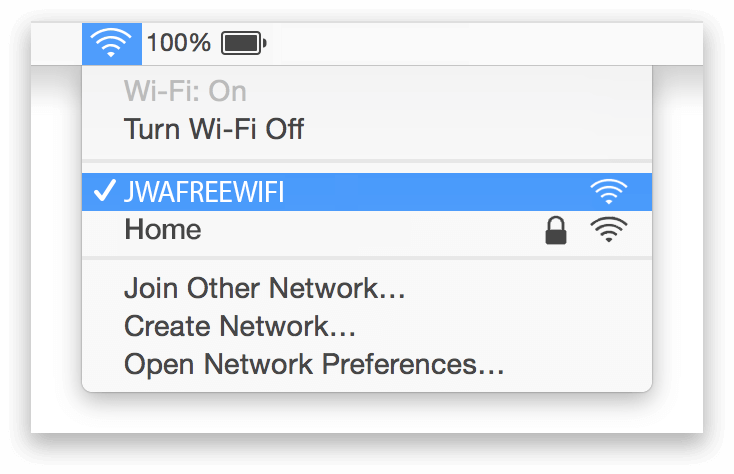 John Wayne Airport Wifi Mac