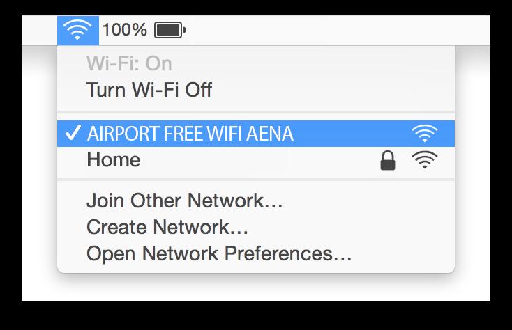 Madrid Airport Wifi Mac