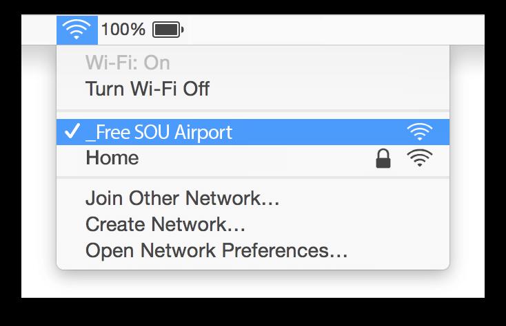 Southampton Airport Wifi Mac