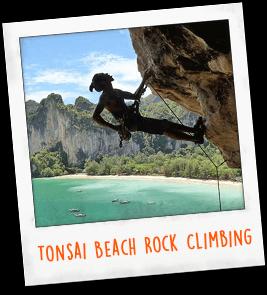 Tonsai Beach Rock Climbing Thailand