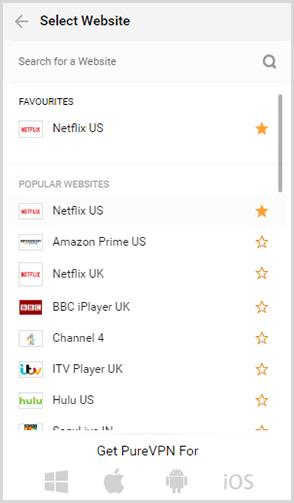 Beliebte Websites
