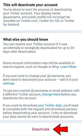 click deactivate again