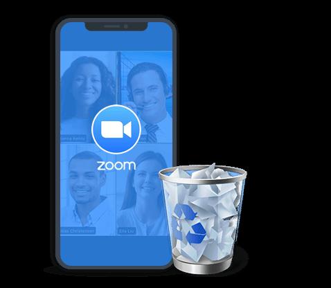 delete zoom on iphone