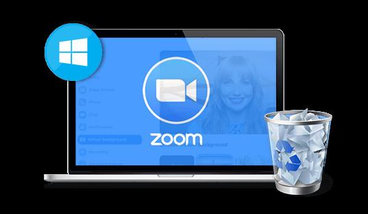 delete zoom on windows
