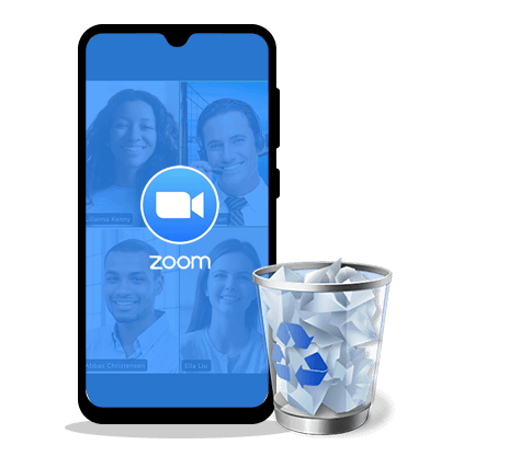 delete zoom on android