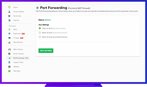 benefits of using Black Mesa port forwarding