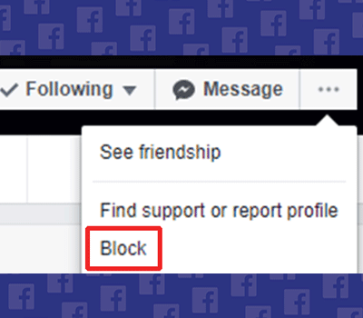 how to block someone on facebook via desktop step-2
