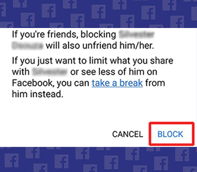 how to block someone on facebook via desktop step-3