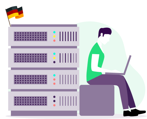 how to get german private ip