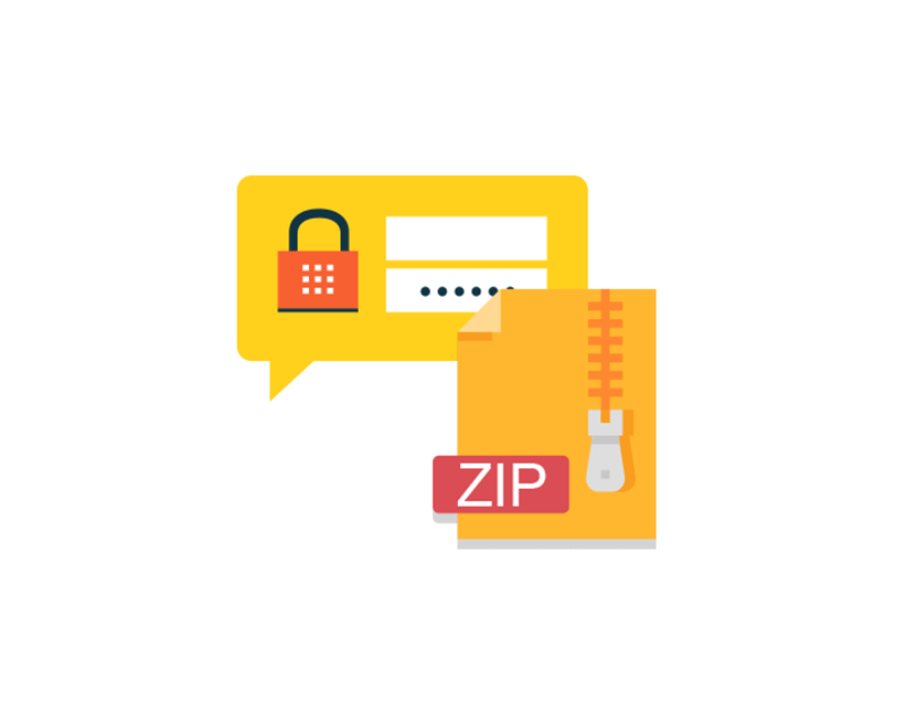 how to password protect a zip file