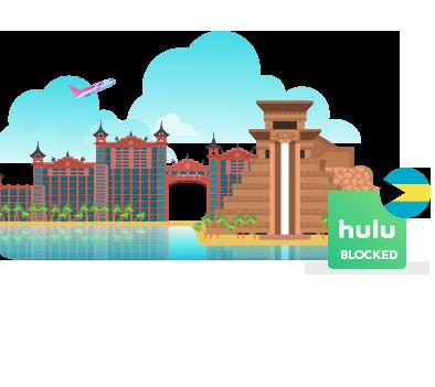 Access Hulu in Bahamas