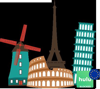 Access Hulu in Europe