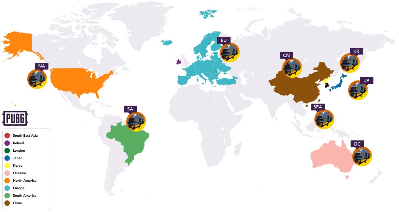 PUBG Region Servers