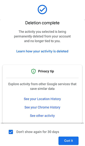 how do i clear history of my browsing along with data personalization