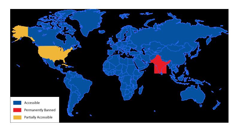 Tiktok Restricted Countries